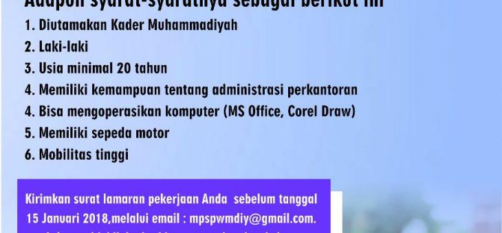 Rekrutmen Sekretaris Eksekutif (SE) MPSPWMDIY