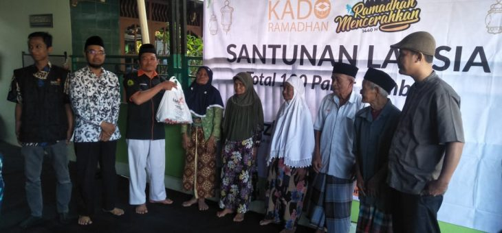 Sebarkan Kebermanfaatan, MPS PWM- Lazismu Wilayah DIY Laksanakan  Santunan Lansia di Ponjong