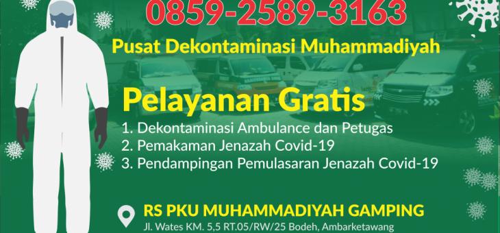 MUHAMMADIYAH DIY LAUNCHING PUSAT DEKONTAMINASI