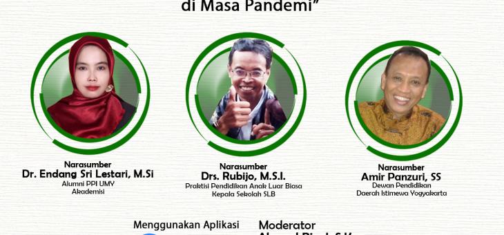 """Webinar """"Pelayanan Pendidikan Anak Berkebutuhan Khusus di Masa Pandemi"""""""